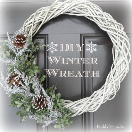 A snowy DIY winter wreath will fill the void left when Christmas decorations are removed.