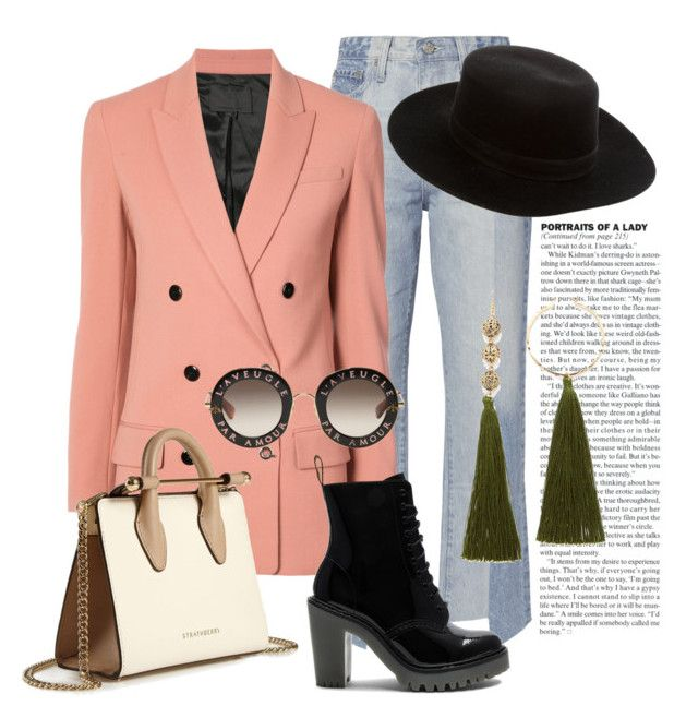 """""""Outfit casual!!"""" by humbertmonica on Polyvore featuring moda, AG Adriano Goldschmied, Alexander Wang, Dr. Martens, Strathberry, Janessa Leone y Gucci"""