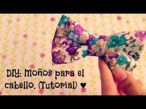 DIY: Como hacer moños para el cabello.♥ (Fácil) - YouTube