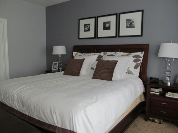 Gray And Beige Master Bedroom