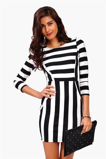Dance Girl Dress - Black/White