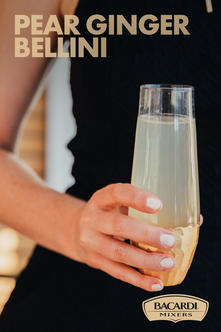 Take the basic bellini to the next level this season by adding a bottle of champagne and ginger to our BACARDI® Mixers Margarita Mix for the perfect Pear Ginger Bellini cocktail! The fresh, crisp taste of ginger married with the rounded tones of pear will have you wondering how you ever lived without it!