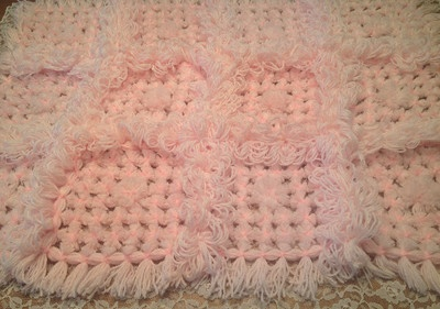 Handmade baby throw