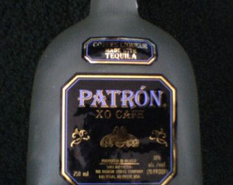 SALE PRICED Three (3) Empty Patron Tequila 750ml Frosted Glass Empty  Bottles Supplies for Man Cave Crafts, Candles, Lamps,