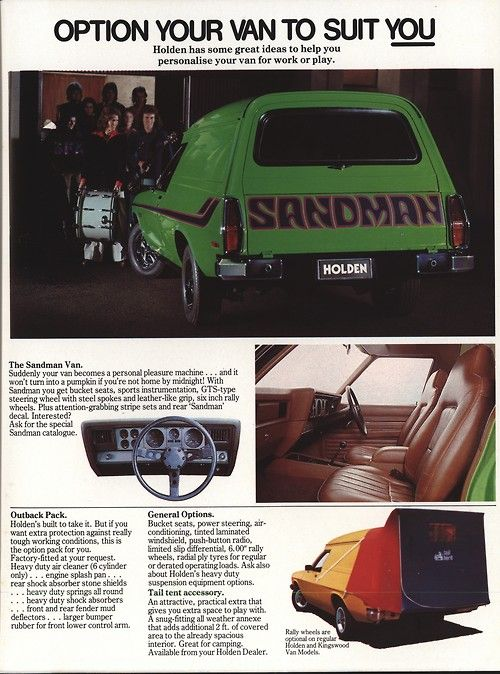 1977 Holden Panel Van and Sandman, I want one now!