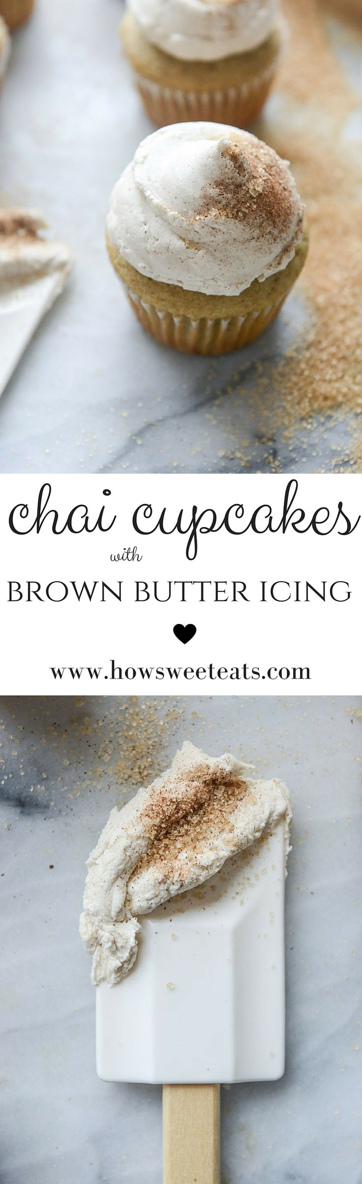 Chai Cupcakes by @howsweeteats I howsweeteats.com