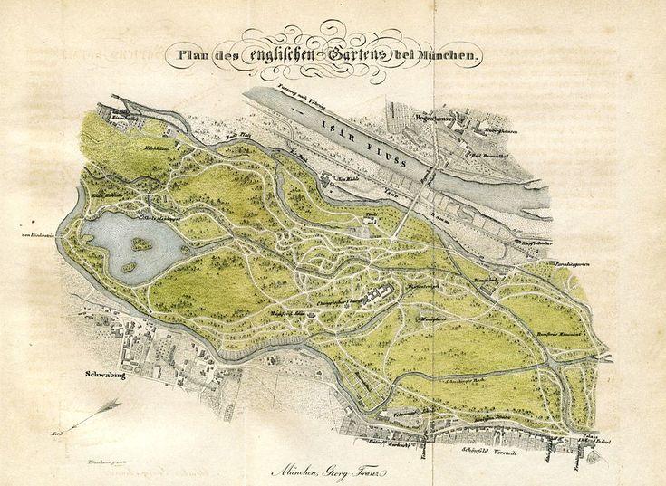 Munchen Englischer Garten Vor 1838 Gravur Joseph Potzenhammer Fur Georg Franz Search Results For Englischer Gart British Library Vignetten Munchen Stadtplan