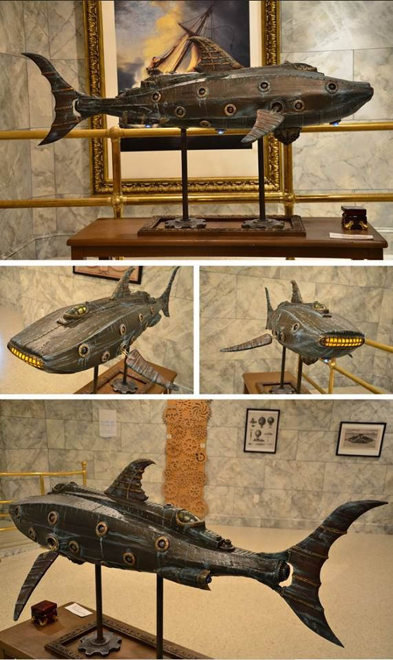 Steampunk Tendencies | Steampunk Nautilus by Doctor Grymm #Model #Submarine #Steampunk