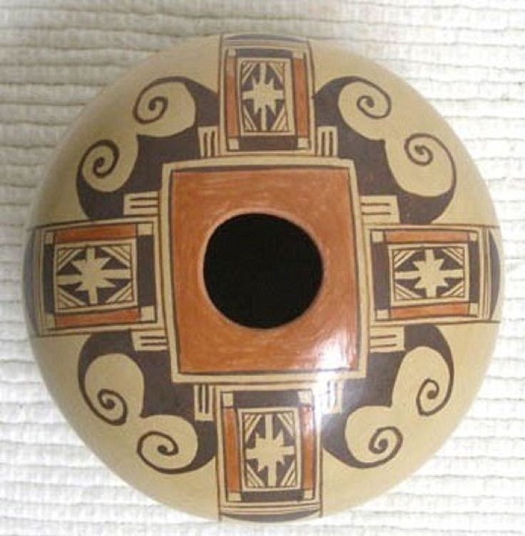 Hopi Indian Handbuilt Handpainted Pottery Seed Pot by Vernida Polacca Nampeyo