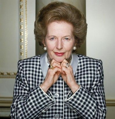 "Margaret Thatcher, Britain's 'Iron Lady' Prime Minister, has died. The first woman ever to serve as prime minister of Great Britain and the longest-serving British prime minister of the 20th century has died at age 87. ""It is with great sadness that Mark and Carol Thatcher announced that their mother Baroness Thatcher died peacefully following a stroke this morning."" Lord Timothy Bell said today. Margaret Thatcher poses for a portrait, circa 1990. (Terry O'Neill/Hulton Archive/Getty Images)"