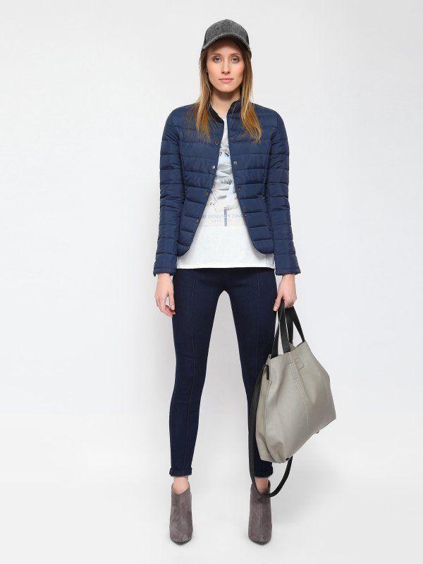 Sportowy look - pikowana kurtka i klasyczne #jeansy od #topsecret
