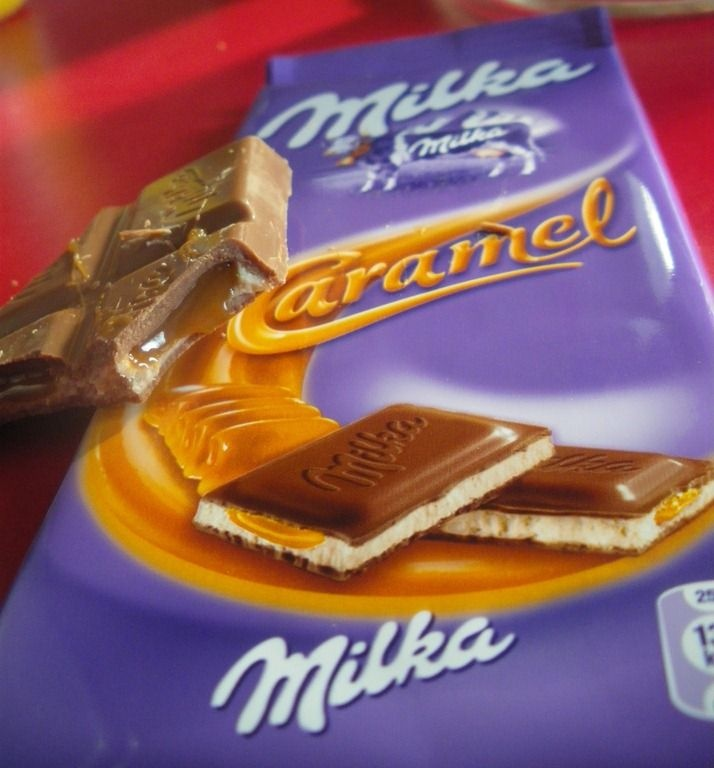 Cake fondant au chocolat milka caramel Hunting this down too - I hope!