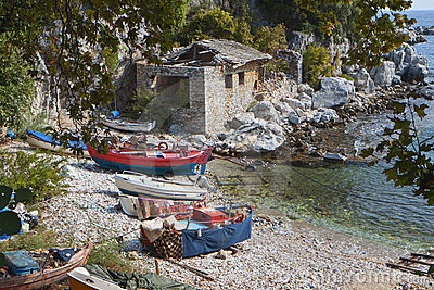 Fishing village at Damouchari in Greece by Panagiotis Karapanagiotis, via Dreamstime