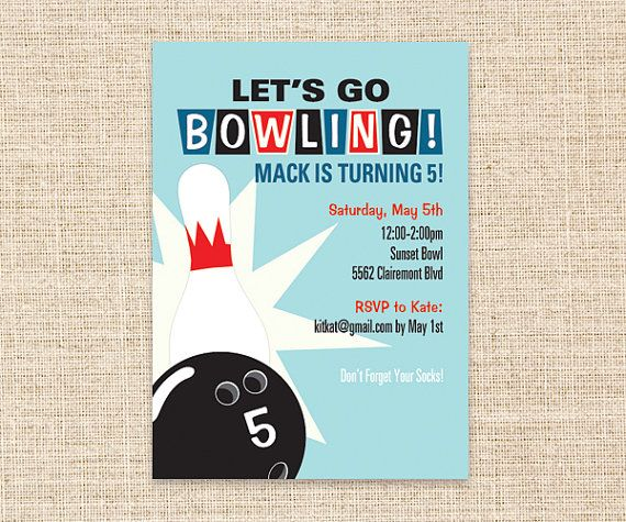 35 best Bowling Party images on Pinterest 4th anniversary - bowling invitation