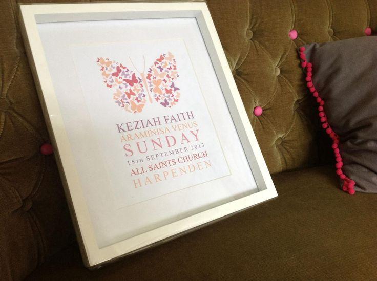 Butterfly christening design