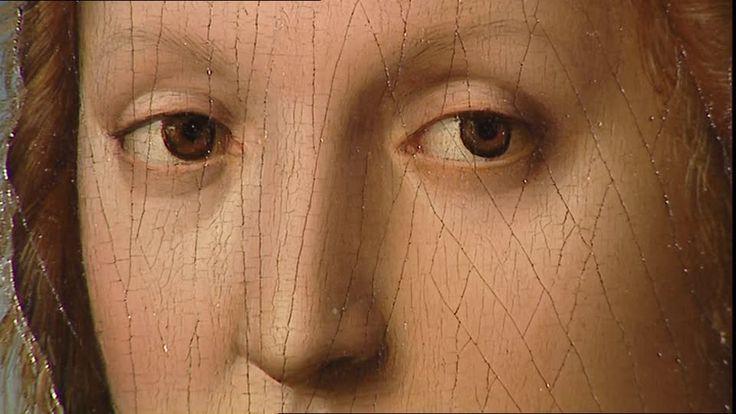 Raffaello-Ritratto di Maddalena Strozzi, 1506, olio su tavola, 63x45 cm(dettaglio)Firenze, Galleria Palatina