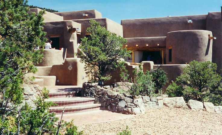 59 best adobe house images on pinterest santa fe style for Pueblo home builders