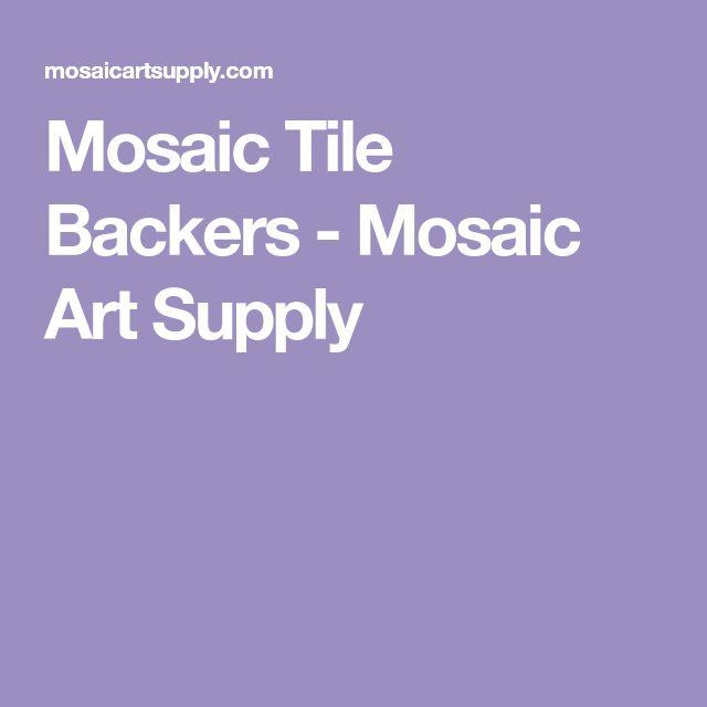 Mosaic Tile Backers - Mosaic Art Supply