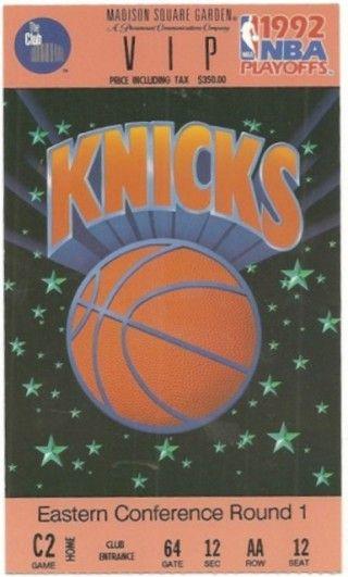 1992 NBA Playoffs Pacers at Knicks stub
