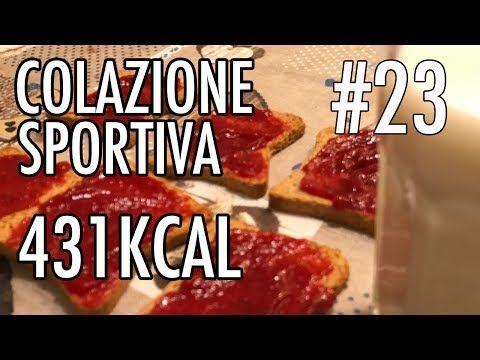 COLAZIONE SPORTIVA#23: LATTE P. SCREMATO, FETTE BISCOTTATE E MARMELLATA 431kcal - YouTube
