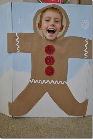 gingerbread man photo prop idea