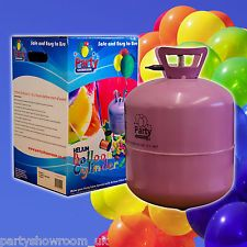 Party Birthday Disposable Helium Gas Cylinder Canister Fills 50 Balloons PS