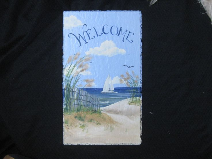 Slate Welcome Signs Hand Painted Welcome Sign Slate
