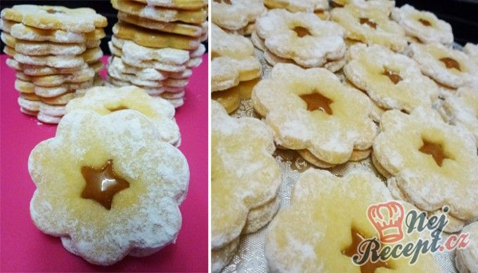 Sušenky s karamelovým krémem