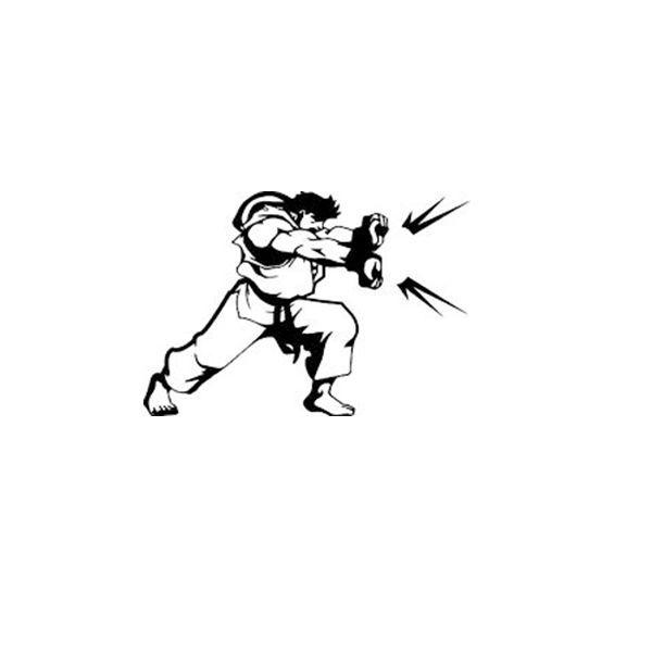 3 99 Street Fighter Ryu Hadouken Decal Vinyl Sticker Car Window
