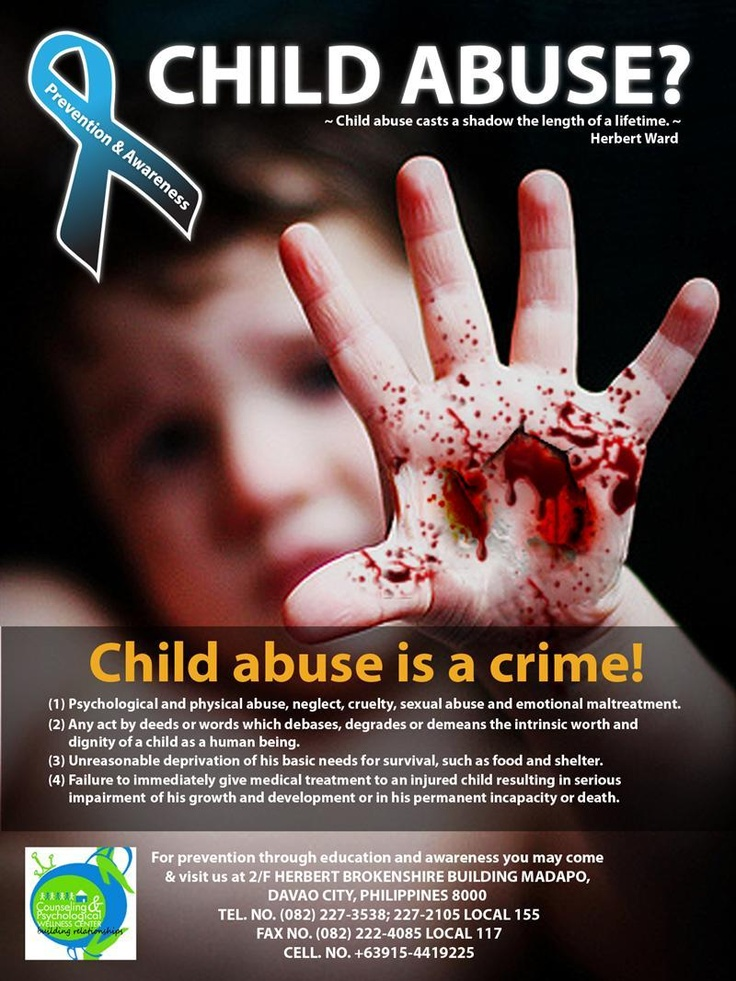 children abuse Every child who has experienced abuse or neglect will have their own response  to the trauma while some children have long-lasting effects, others are able to.