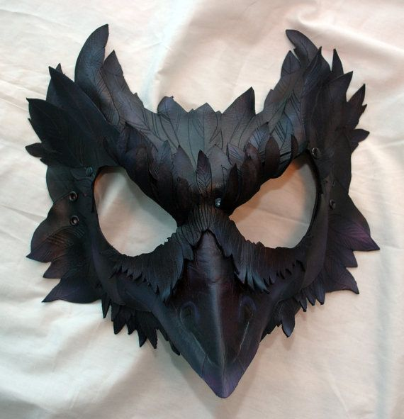 Made to Order-- Mormont's Raven Leather Cosplay Mask, Game of Thrones Inspired. $300.00, via Etsy.