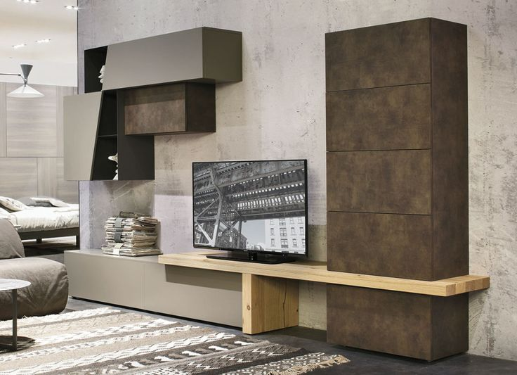 Materiali diversi per un #soggiorno contemporaneo C 138 | gruppotomasella.it