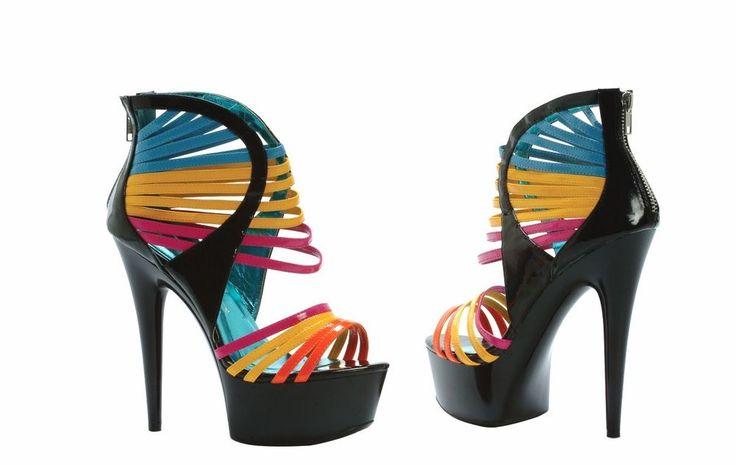 Stripper Pole Dancer Platform Shoe Size 8 Ellie 609-Sunkiss #EllieShoes #PlatformsWedges #Clubwear