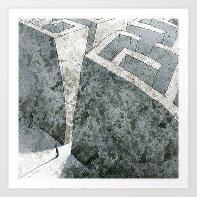 LABYRINTH Art Print by Daniele Vittadello - $19.00