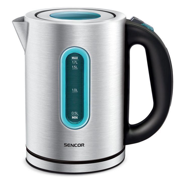 Sencor Stainless steel Kettle SWK 1710SS - Volume 1,7 l - Water level mark - Removable and washable dirt and scale filter