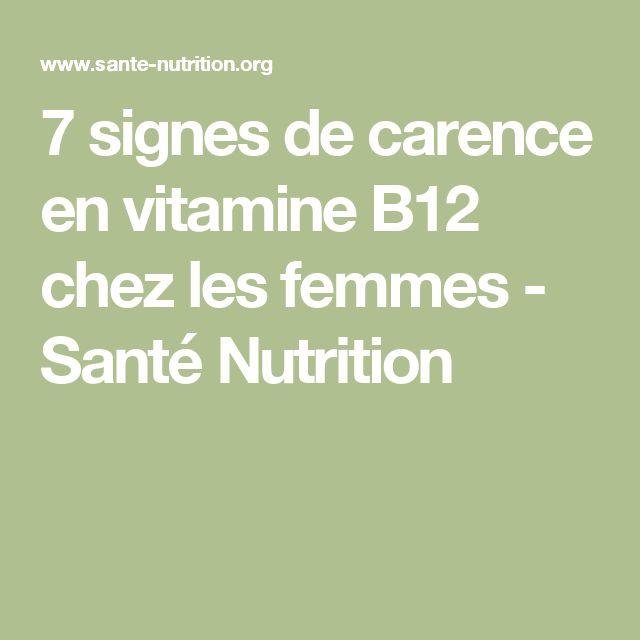 7 signes de carence en vitamine B12 chez les femmes - Santé Nutrition