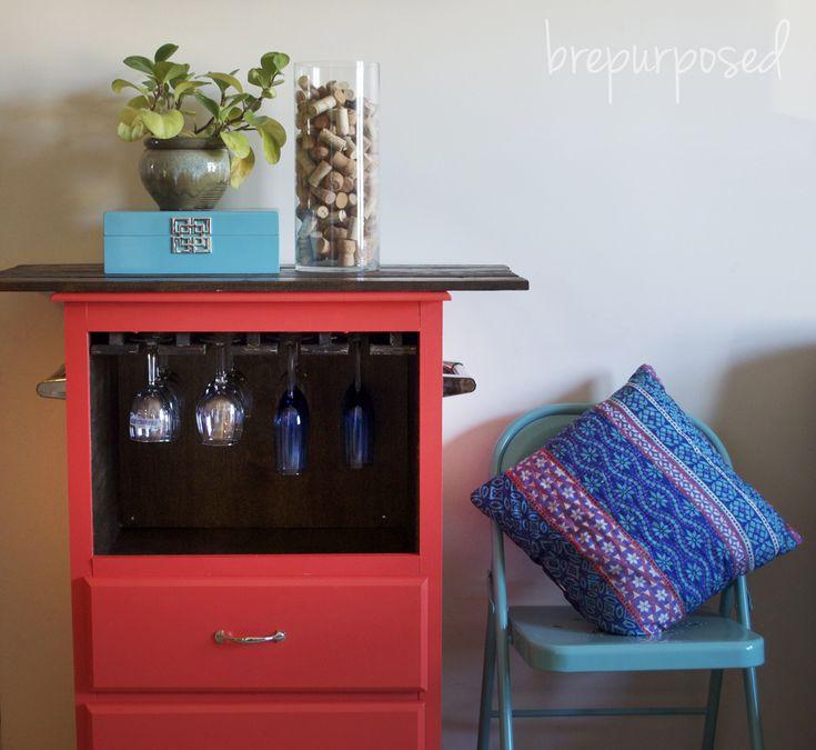 Bright and Bold Standing Kitchen Peninsula