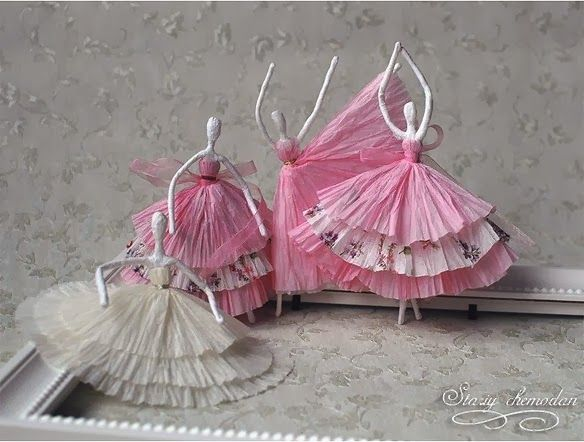 DIY Paper Napkin Ballerinas
