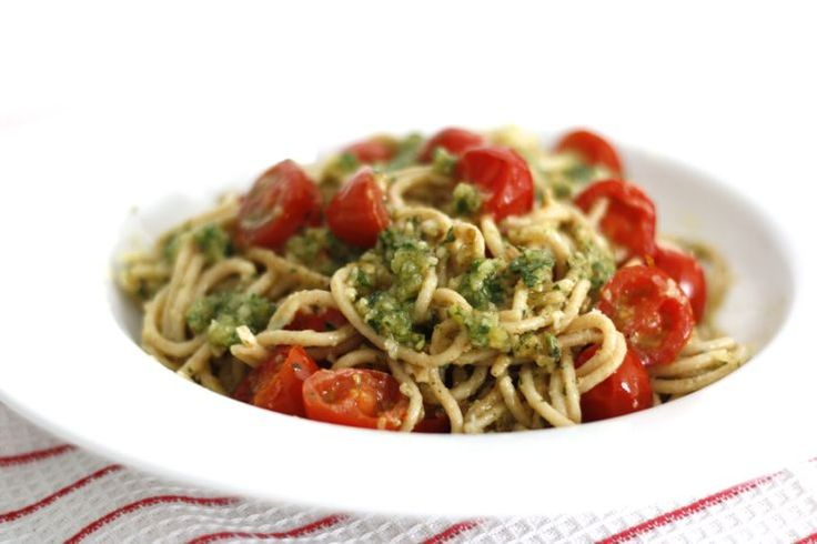5 or less: Spaghetti met peterseliepesto