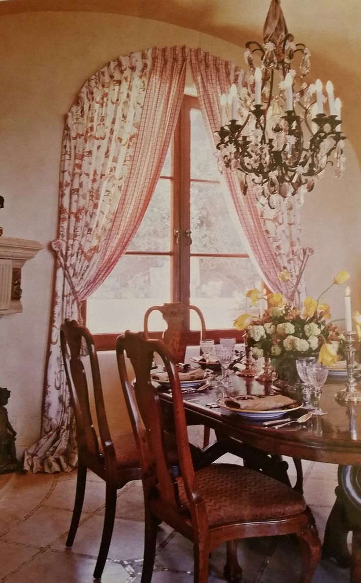 Window curtain - Arched Window Curtain Choose From Group B Fabrics 6024