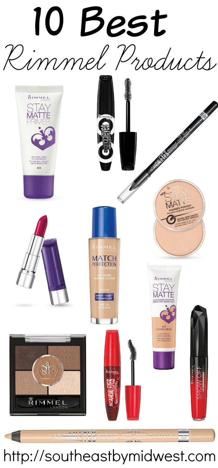 10 of the Best Rimmel Products