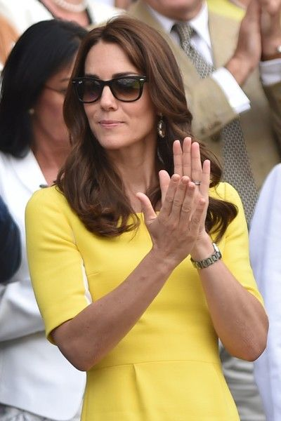 Kate Middleton Photos - Britain's Catherine, Duchess of Cambridge watches US player Serena Williams play Russia's Elena Vesnina during their women's semi-final match on the eleventh day of the 2016 Wimbledon Championships at The All England Lawn Tennis Club in Wimbledon, southwest London, on July 7, 2016. / AFP / GLYN KIRK / RESTRICTED TO EDITORIAL USE - Day Ten: The Championships - Wimbledon 2016