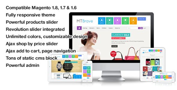 See More Brave - MultiPurpose Flat Responsive Magento ThemeWe provide you all shopping site and all informations in our go to store link. You will see low prices on