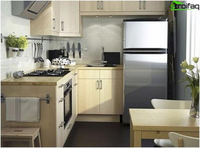 Design kuchyne 10 metrov štvorcových - 50 fotografie kuchynský interiér nápady, vybrať to najlepšie