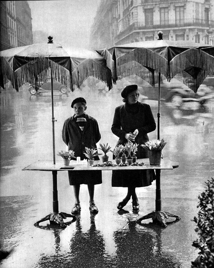 Rain flowers 1950 by Robert Doisneau