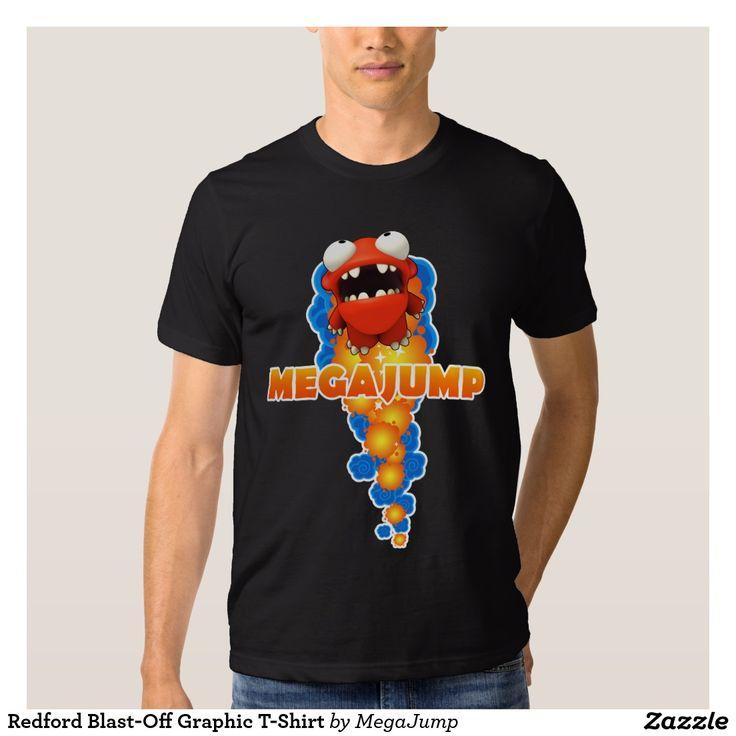 Redford Blast-Off Graphic T-Shirt. Producto disponible en tienda Zazzle. Vestuario, moda. Product available in Zazzle store. Fashion wardrobe. Regalos, Gifts. #camiseta #tshirt