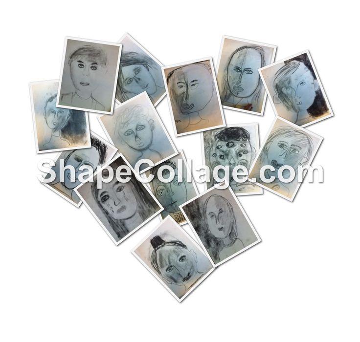 Portretten tekenen met houtskool in groep 4/5