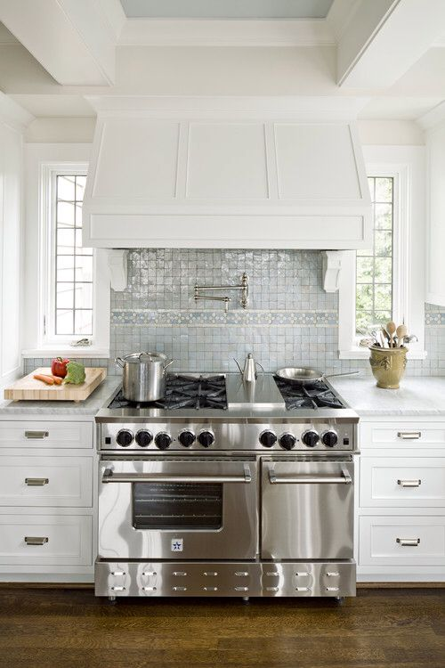 Kitchen With Windows Beside Stove Decor In 2019