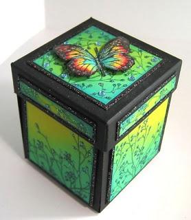 magic boxes: Exploding Box - Butterflies