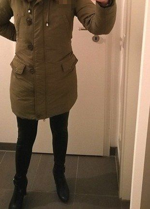 Kaufe meinen Artikel bei #Kleiderkreisel http://www.kleiderkreisel.de/damenmode/halblange-mantel/141750365-bomboogie-winterparka-daunen-xs-khaki-halblange-mantel